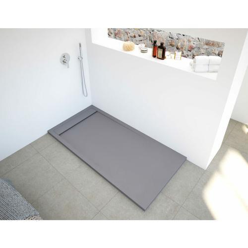 BB NEW YORK Rechteckige Duschwanne 170 x 70 cm grey