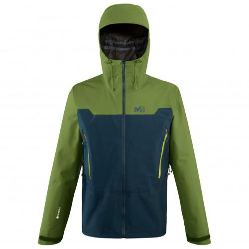 Millet - Kamet Light GTX Jacket - Regenjacke Gr M oliv/schwarz/blau