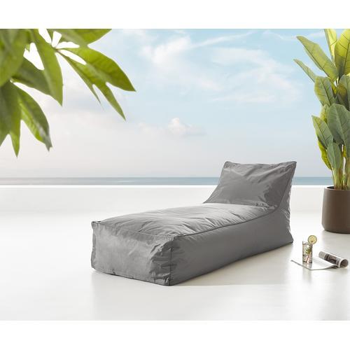 DELIFE Sonnenliege Edley Grau 160x70 cm wasserabweisender Stoff, Gartenmöbel