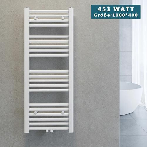 Handtuchtrockner Heizkörper Handtuchwärmer Badheizkörper Heizung Weiß 1000x400mm