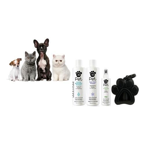 John Paul Pet: Haferflocken-Shampoo + Haferflocken-Spülung +Haferflocken-Pflegespray + Kotbeutel-Spender