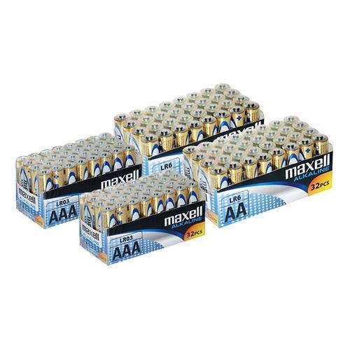Maxell Alkaline-Batterien: 32 AA-Batterien + 32 AAA-Batterien