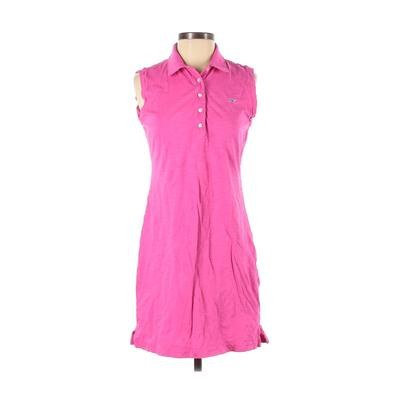 Vineyard Vines - Vineyard Vines Casual Dress - Shirtdress: Pink Solid Dresses - Used - Size X-Small
