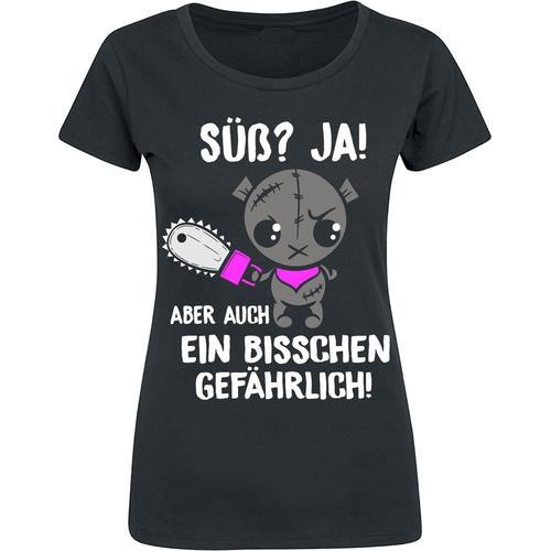 Süß aber auch gefährlich Damen-T-Shirt - schwarz
