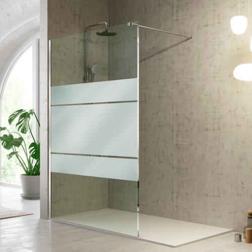 Duschwand FRESH - 90 cm Glas 8mm mit Sichtschutz