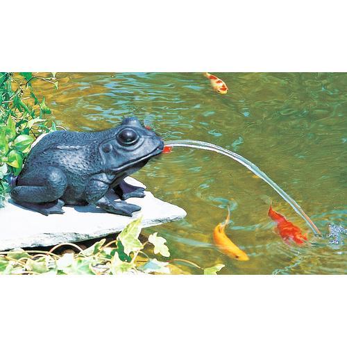 Heissner Wasserspeier Frosch braun Teichbrunnen Teiche Garten Balkon