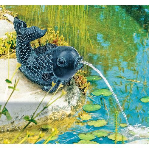 Heissner Wasserspeier Fisch braun Teichbrunnen Teiche Garten Balkon