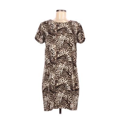Rachel Zoe Casual Dress - Shift: Brown Animal Print Dresses - Used - Size 6