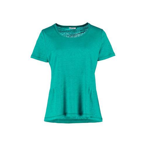 Deerberg Damen Leinenjersey Shirt Darnelle smaragdgrün