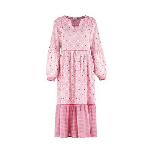 Deerberg Damen Kleid Yvonn dahlienrot-weiß