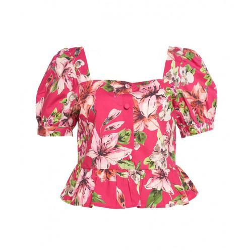 Liu Jo Damen Bluse in Popeline Pink