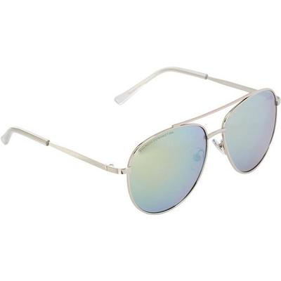 French Connection Womens Mirrored Aviator Sunglasses