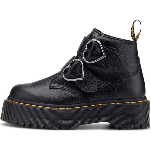 Dr. Martens, Schnallen-Boots Devon Heart in schwarz, Boots für Damen Gr. 39
