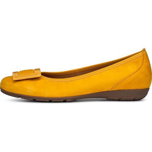Gabor, Sommer-Ballerina in gelb, Ballerinas für Damen Gr. 37 1/2