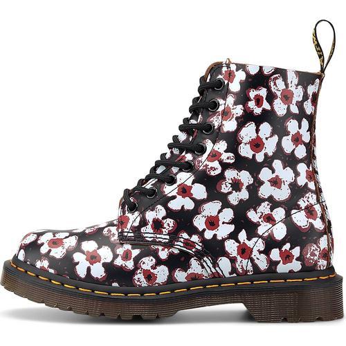 Dr. Martens, Schnür-Boots 1460 Pascal Floral in schwarz, Boots für Damen Gr. 40