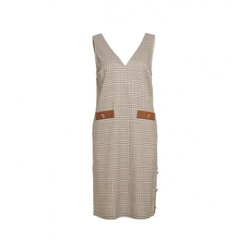 Liu Jo Damen Kleid im Pepita-Muster Braun