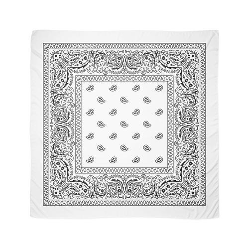 Bandana Weiß Tuch