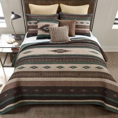 Sierra Vista Mini Quilt Set Multi Warm, Full / Queen, Multi Warm