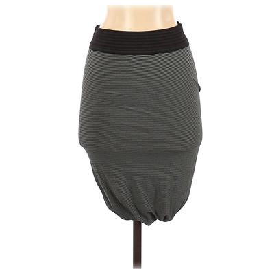 T by Alexander Wang Casual Skirt: Green Stripes Bottoms - Size X-Small