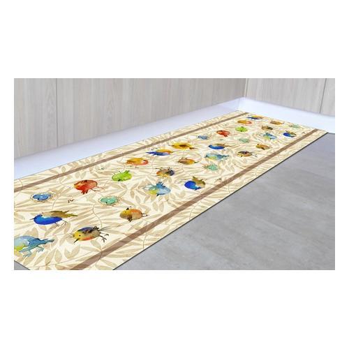 Läufer-Teppich: Pflanzen/ 50 x 400 cm