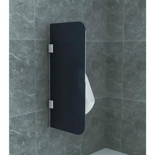 Glas Trennwand Urinal Schamwand Rauchglas 900x400 8mm - Aloni