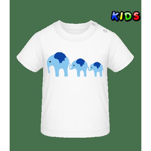 Elefant Familie Baby - Baby T-Shirt