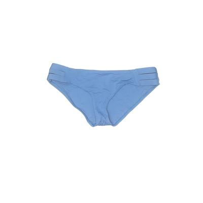 Vitamin A Swimsuit Bottoms: Blue Solid Swimwear - Size Large