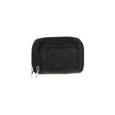 Wilsons Leather Leather Coin Purse: Black Solid Bags