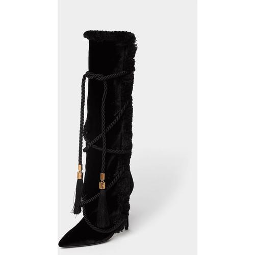 Versace Stiefel mit Quasten