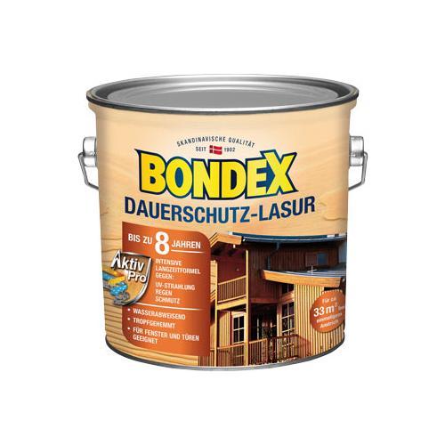 Bondex 2er-Set Dauerschutz-Lasur, je ca. 2,5 l, Weiß