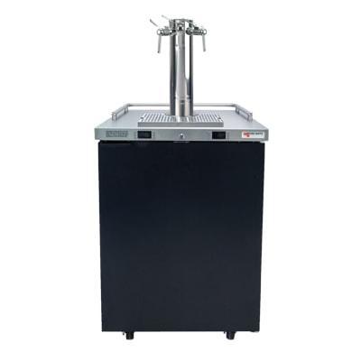 "Micro Matic MDD23W-E-B 25"" Dual Zone Wine Dispenser w/ (4) 1/6 Size Keg Capacity - (1) Column & (3) Taps, Black, 115v"