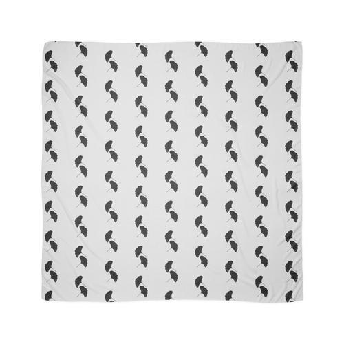 Ginkgo-Blatt II Black & White Tuch