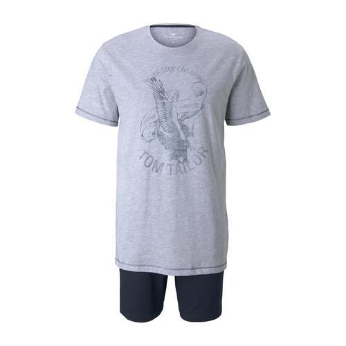 TOM TAILOR Herren Maritimes Pyjama-Set, grau, Gr.54/XL