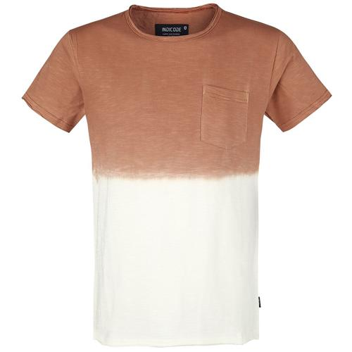 Indicode Hess Herren-T-Shirt - orange weiß