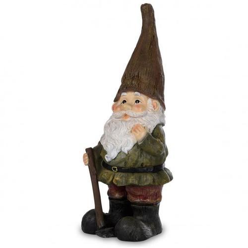 Gartenzwerg Günter mit brauner Mütze