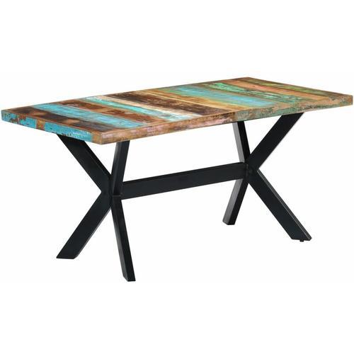 Youthup - Esstisch 160 x 80 x 75 cm Recyceltes Massivholz
