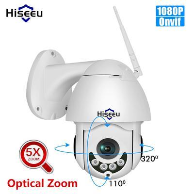Hiseeu – caméra de Surveillance dôme extérieure PTZ IP WiFi hd 2mp/1080P, étanche, avec Zoom optique