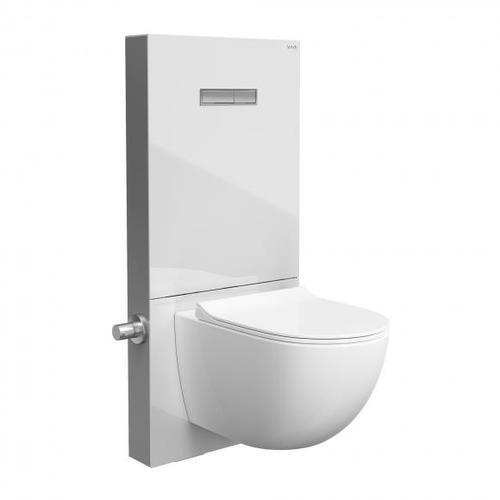 Vitra Vitrus Stand-Spülkasten für Wand-WCs mit Bidetfunktion weiß/aluminium gebürstet 770-5770-01