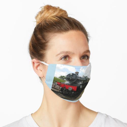 Zug-Dampfmaschinenlokomotive der Weinlese Eisenbahn Maske