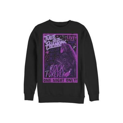 Julie and the Phantoms Black Live Concert Crew Fleece Graphic Sweatshirt