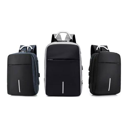 Rucksack mit USB-Anschluss: Grau