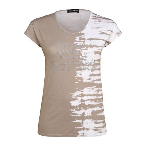 T-Shirt mit Schriftzug Doris Streich sand