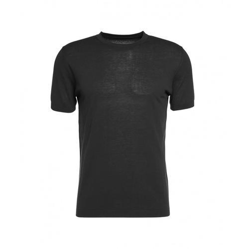 Kangra Herren T-Shirt mit Rundkragen Schwarz
