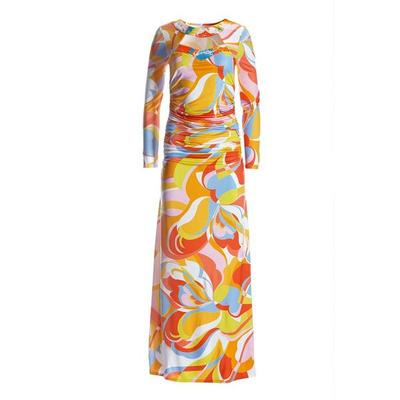 Boston Proper - Into The Sun Embellished Maxi Dress - Multi - Medium