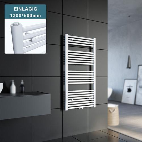 Badheizkörper Handtuchheizkörper Handtuchwärmer Handtuchtrockner 1200x600mm Weiß