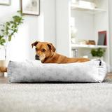 Disney Mickey Bolster Cat & Dog Bed, Gray Patterned, Large
