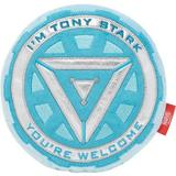 Marvel 's Ironman Arc Reactor Round Plush Squeaky Dog Toy