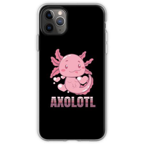 Axolotl Lurch Terrarium Aquarium Lurch Amphibie Flexible Hülle für iPhone 11 Pro Max