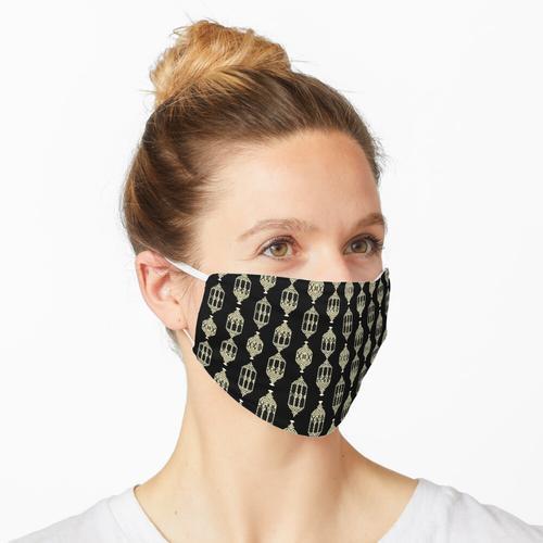 Gelbe arabische Laternen (schwarz) Maske