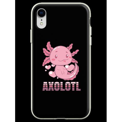 Axolotl Lurch Terrarium Aquarium Lurch Amphibie Flexible Hülle für iPhone XR
